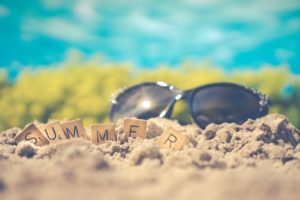 summer sand and sunglasses