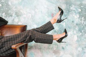 Women in office wear and high heals