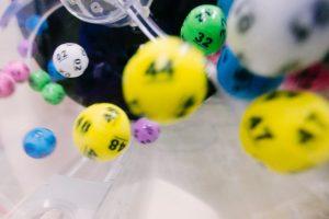 lottery balls in a machine