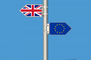 brexit flag lampost